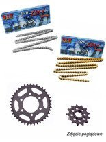 Chain D.I.D 520 ZVM-X SUPER STREET X-Ring [114 chain link] and SUNSTAR sprocket for Honda CTX 700 [14-16]/ NC 700 Integra [12-13]