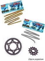 Chain D.I.D 525 ZVM-X SUPER STREET X-Ring [128 chain link] and SUNSTAR sprocket for BMW S 1000 XR [15-17]