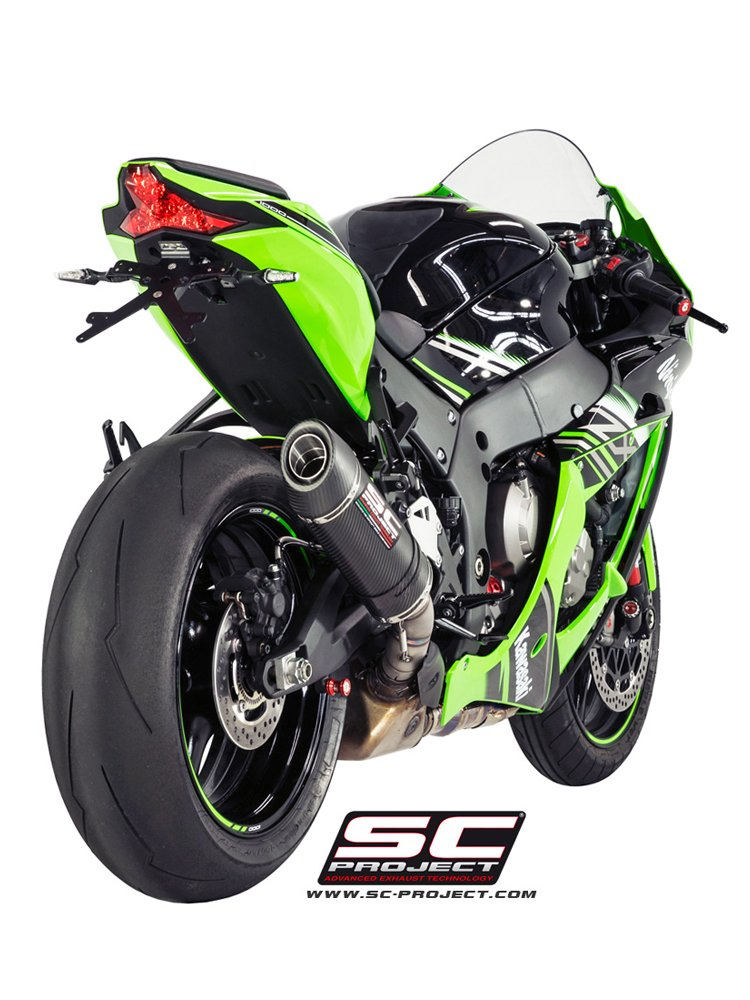 Oval Silencer for original catalyst Slip-on SC-Project for Kawasaki