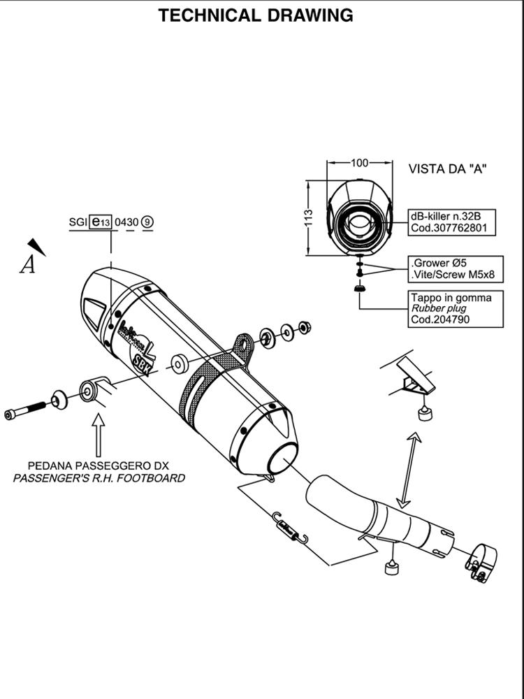 Silencer Leovince Sbk Slip On Lv One Carbon Fiber For Honda Integra