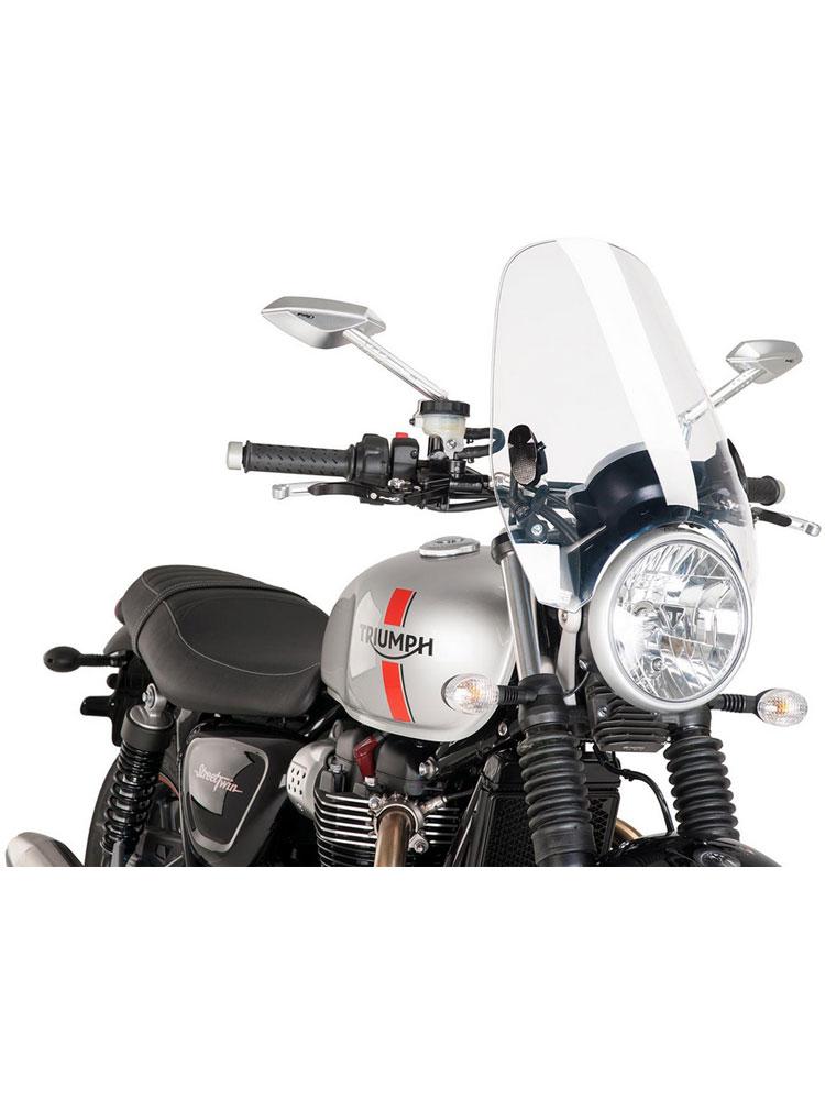 Motorbike Motorcycle Windshield Puig Triumph Bonneville T100 05-16 light smoke