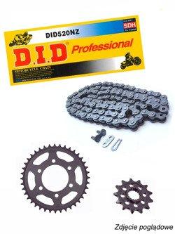 Chain D.I.D.520 NZ SUPER NON-O-RING Cross [108 chain link] and SUNSTAR sprocket for Honda CB 300 F [15-16]/ CBR 300 R [14-16]