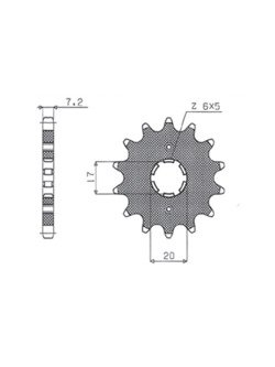 Front sprocket SUNSTAR 222 [15 tooth]