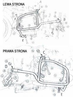 H&B Engine protection - chrom BMW R 850 R [03-] / R 1150 R