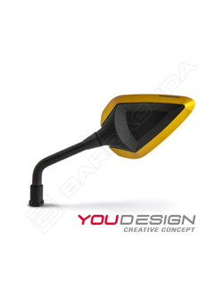 INSERTI in abs colour GOLD for mirrors BARRACUDA R-VERSION