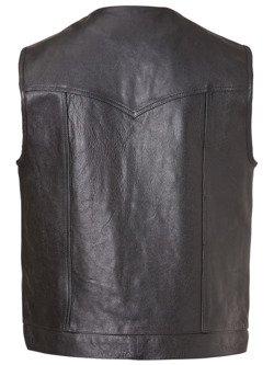 Leather Vest John Doe Mc Outlaw black