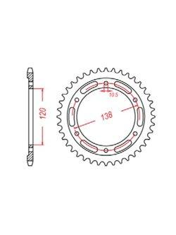 Rear sprocket SUNSTAR 1-3516 [36 tooth]