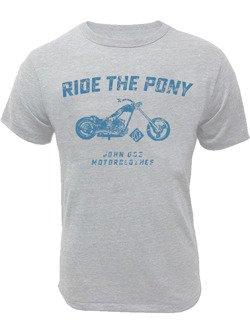 T-Shirt John Doe Ride The Pony grey