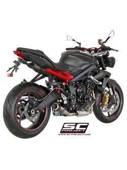 CR-T Silencer Slip-on SC-Project for Triumph STREET TRIPLE 675 / R [13-16]/ RX [15-16]