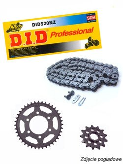 Chain D.I.D.520 NZ SUPER NON-O-RING Cross [108 chain link] and SUNSTAR sprocket for Honda CB 300 F [15-16]/ CBR 300 R [14-16]