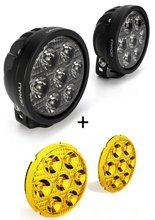 Zestaw lamp LED DENALI 2.0 D7 z technologią DataDim + żółte soczewki (2 sztuki)