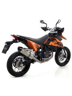 Pełny układ wydechowy Arrow KTM 690 SM [06-12] [Race-Tech, Tytan + carbon]