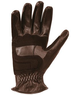 Rękawice motocyklowe skórzane John Doe Tracker - XTM brązowe