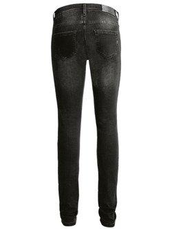 Spodnie motocyklowe jeansowe John Doe High Waist Betty czarne