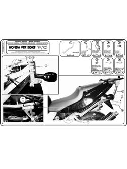 Stelaż pod kufer centralny MONOKEY i MONOLOCK (Honda VTR 1000 F 97-04)