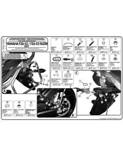 Stelaże Givi pod kufry boczne Monokey do Yamaha FZ6 S2 / FZ6 600 Fazer S2 (07 > 11)