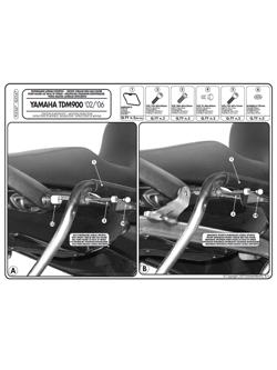 Stelaże pod kufry boczne MONOKEY SIDE do Yamahy TDM 900 (02 > 15)