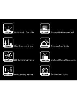 Zestaw lamp LED DENALI 2.0 D4 TriOptic z technologią DataDim + soczewki bursztynowe