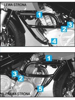 Gmol silnika Hepco&Becker do BMW F 800 S Srebrny
