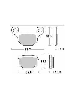 Klocki hamulcowe [tył] SBS 585 HF