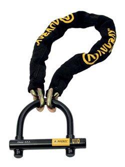 Łańcuch AUVRAY o długości 120 cm z zapięciem U-Lock Force 10