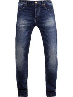 Męskie jeansy motocyklowe JOHN DOE Ironhead Used Dark Blue - XTM