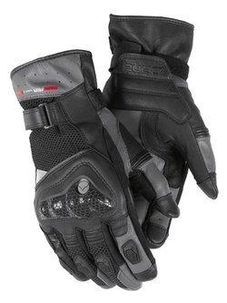 Rękawice motocyklowe skórzane Dane Skelund czarno-szare